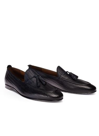 Deery Hakiki Deri Ayakkabı Lacivert